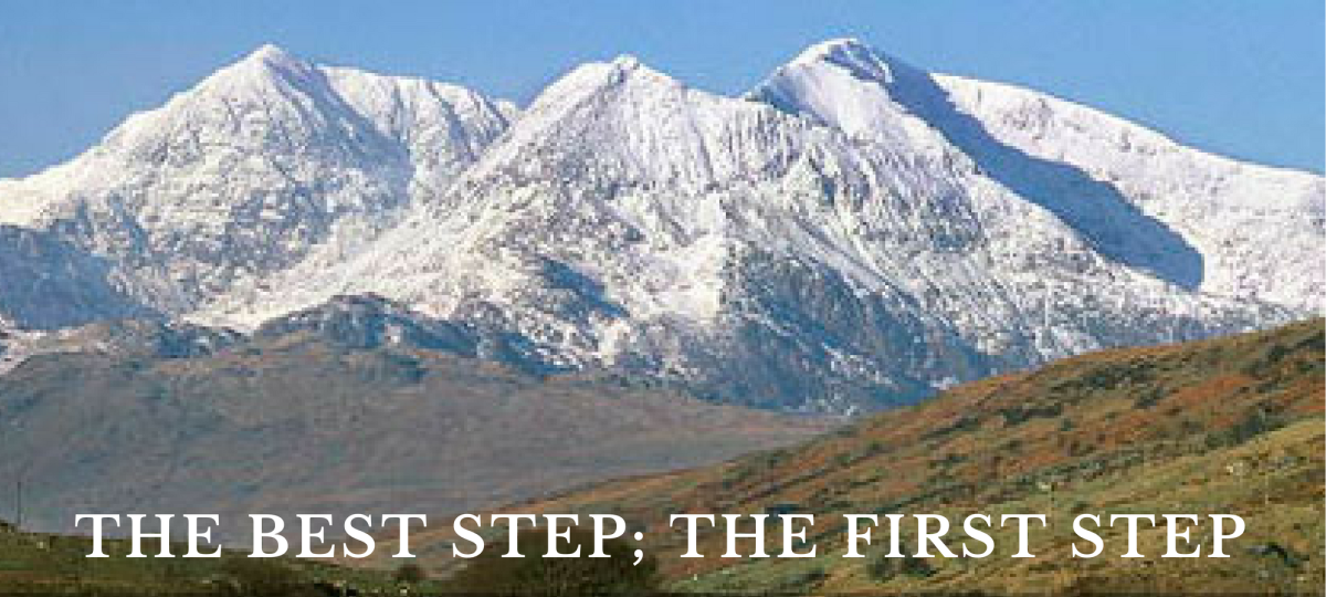The best step, the first step 'Gorau cam, cam cyntaf' - In business and in life